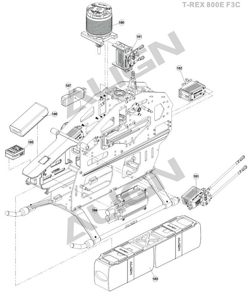 Pf Align Trex 800e F3c Body Align T Rex 800e F3c Body Exploded View