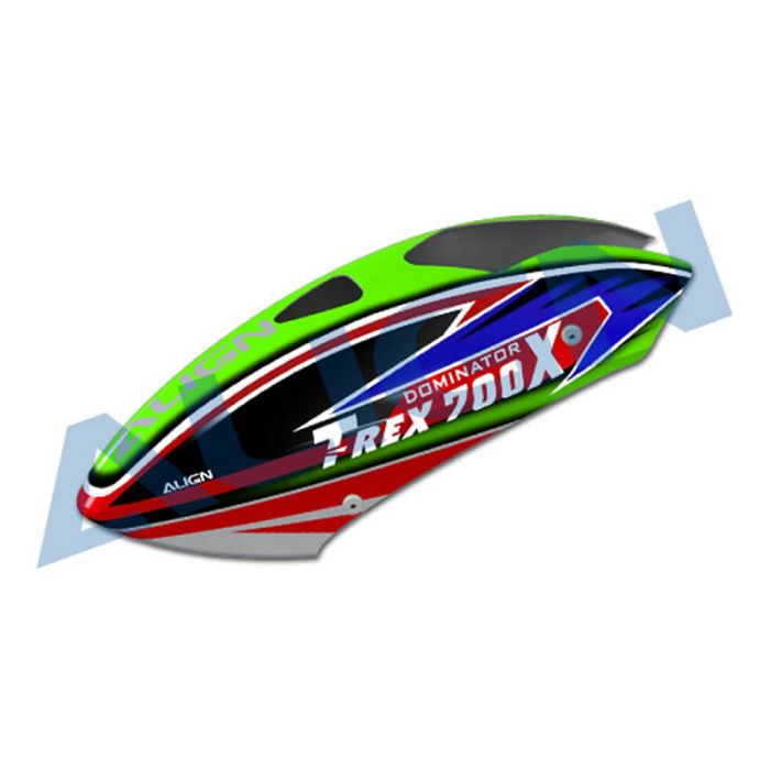 7ab95b009cda50 Align T-Rex 700X Painted Canopy (Green)